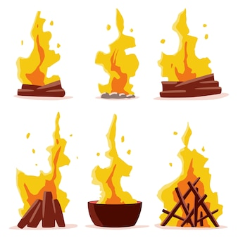 Collection of bonfires
