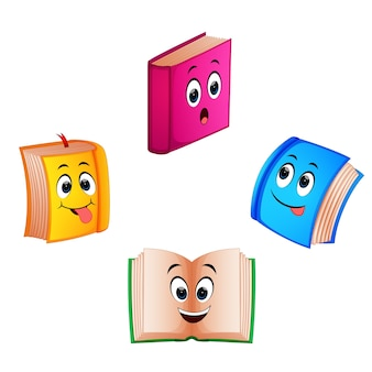 Collection book with different expression