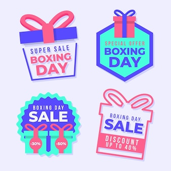 Collection of boxing day sale labels
