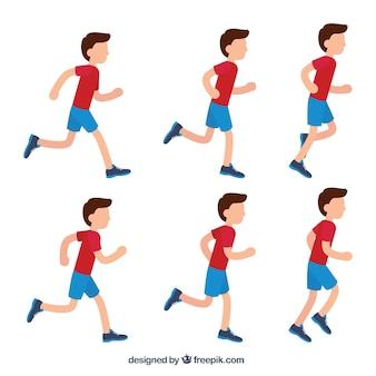 Raccolta di ragazzo che corre
