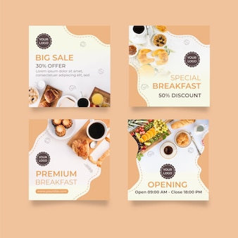Collection of breakfast concept