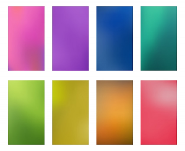 Collection bright abstract multicolored wallpapers smartphones screen mobile background