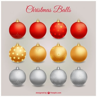 Collection of bright christmas balls