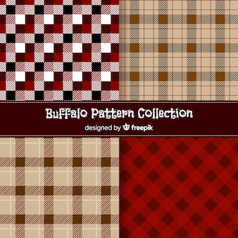 Collection of buffalo pattern