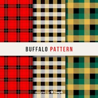 Collection of buffalo pattern