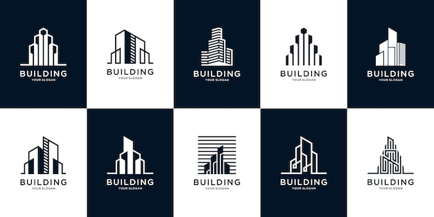 Collection of building architecture set inspiration