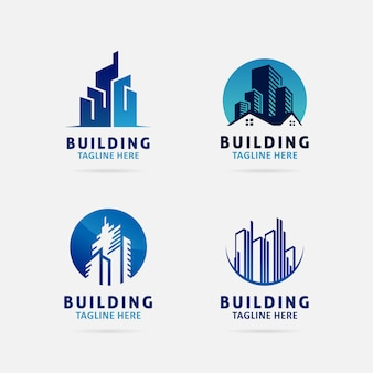 Collection of building logo design