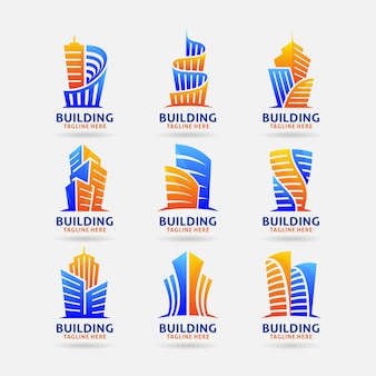 Collection of building logo
