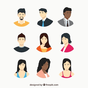 Collection of business avatar