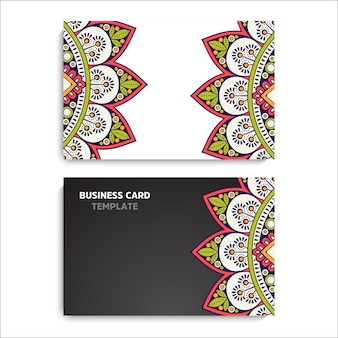 Collection business card or invitation. background