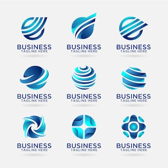 Collection of business logo designs