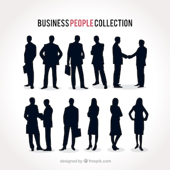 Collection of businesspeople silhouettes