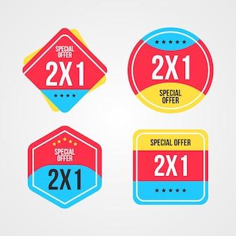 Raccolta di compri due al prezzo di una etichetta