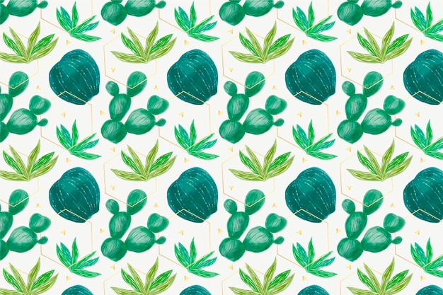 Collection of cactus plants pattern