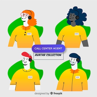 Collection of call center avatars