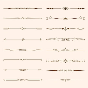 Collection of calligraphic ornamental dividers