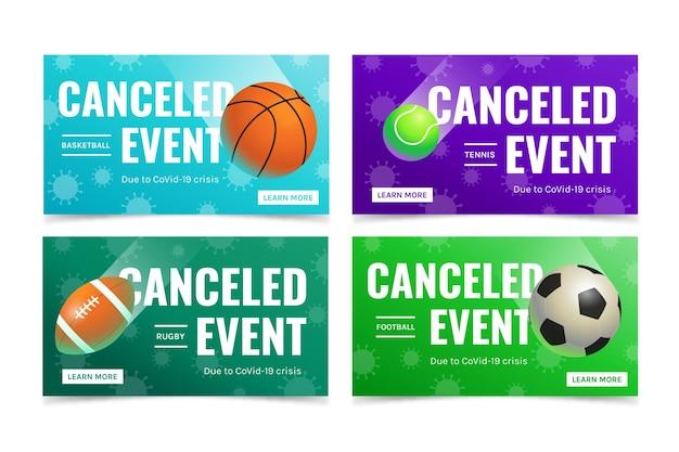 Raccolta di eventi sportivi cancellati