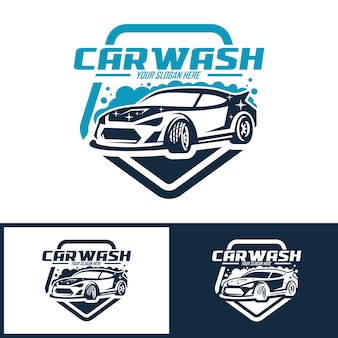Collection of car wash logo template