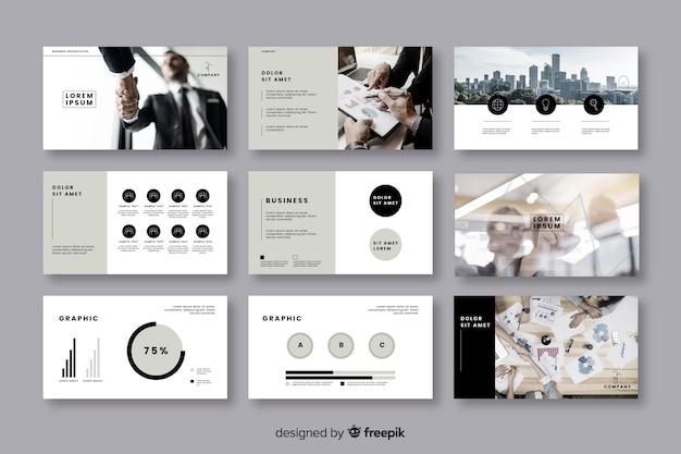 Collezione di carte per la presentazione aziendale