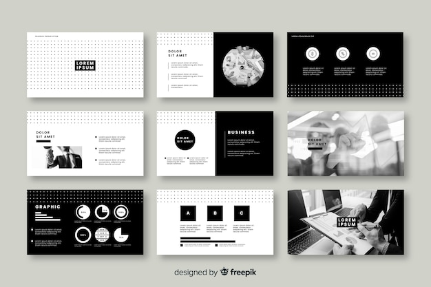 Collection of cards for business presentation