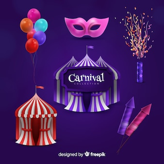 Collection of carnival elements
