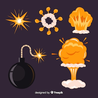 Collection of cartoon explosion effects