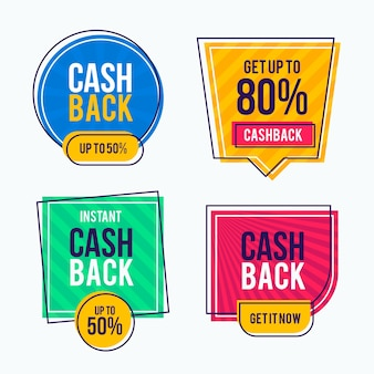 Collection of cashback labels