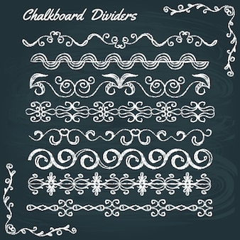 Collection of chalkboard dividers