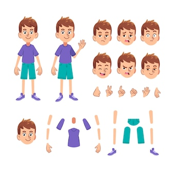 Collection of character expressions and body parts