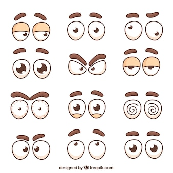 Collection of characters eyes and eyebrows