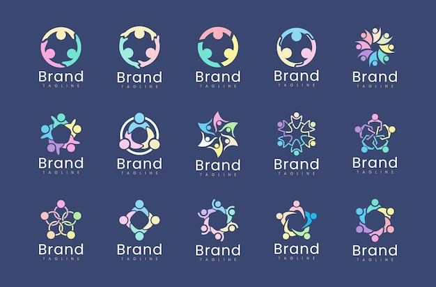 Collection of charity logo design templates