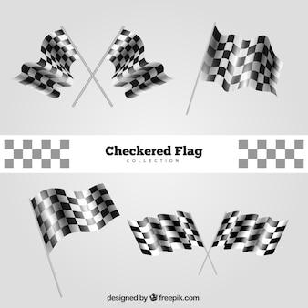 Collezione di bandiere a scacchi