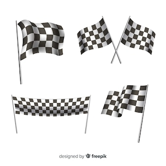 Collection of checkered flags