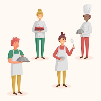 Collection of chef cook