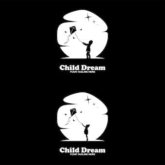 Collection of children dream logo set design template inspiration