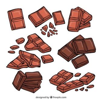 Collezione di barrette di cioccolato