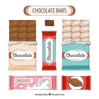Collection of chocolate bars