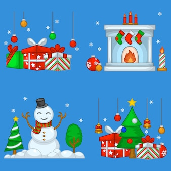 Collection of christmas assets