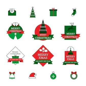 Collection of christmas badges