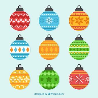Collection of christmas ball