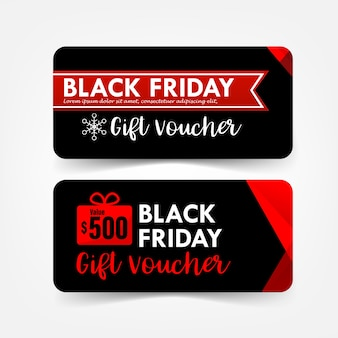 Collection of christmas black friday gift voucher web tag banner promotion