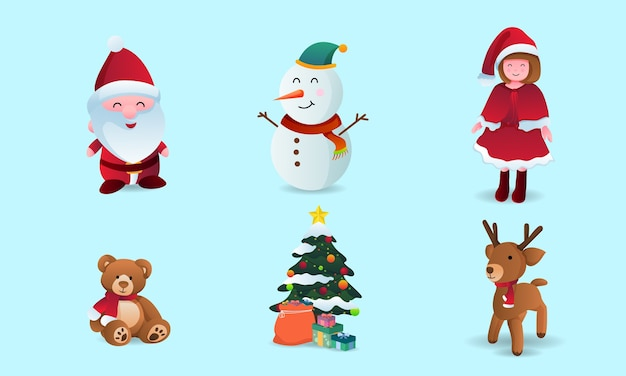 Collection of christmas cartoons