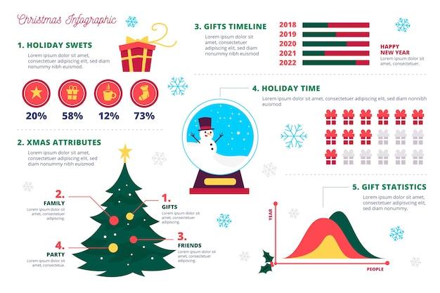 Collection of christmas infographics
