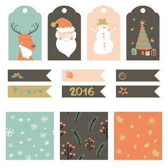 Коллекция рождественские наклейки