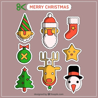 Collection of christmas patches