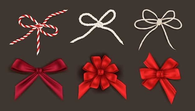 Collection of christmas ribbons