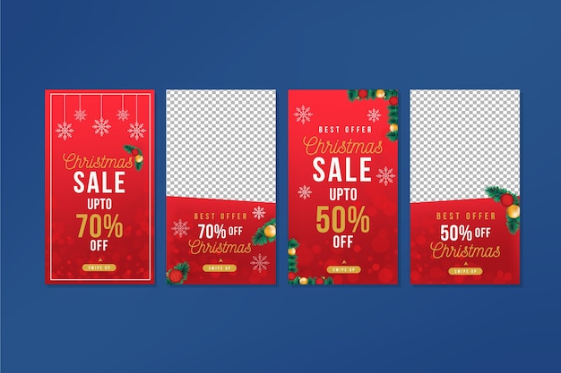 Collection of christmas sale instagram story