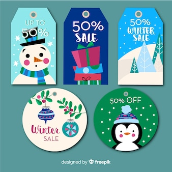 Collection of christmas sale tags