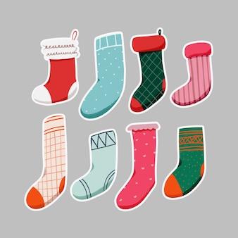 Collection of christmas sock