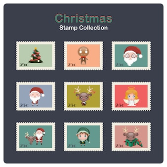 Collection of christmas stamps